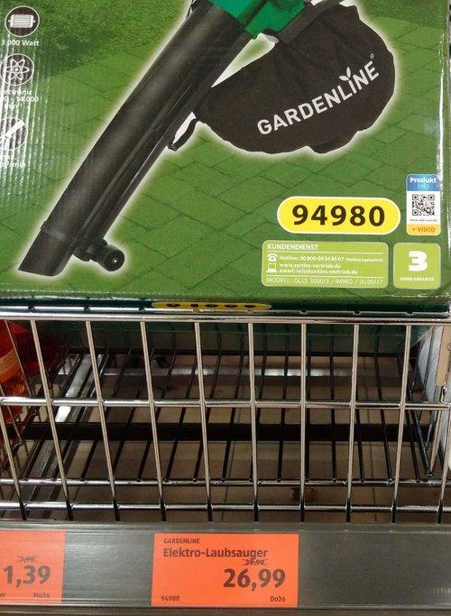 Gardenline Elektro-Laubsauger  - jetzt 33% billiger