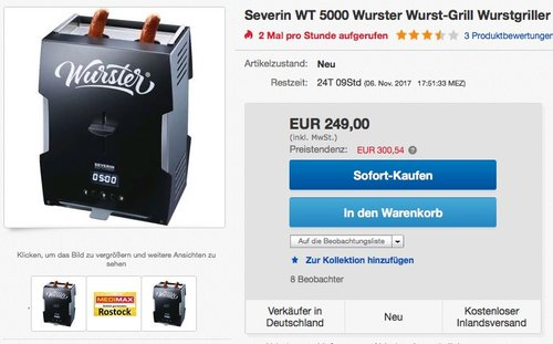 Severin Wurster WT 5000 - jetzt 9% billiger