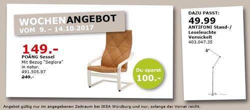 "IKEA POÄNG Sessel, Bezug ""Seglora"" - jetzt 40% billiger"