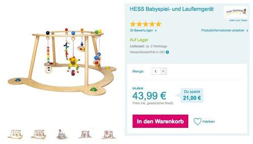 HESS Babyspiel- und Lauflerngerät - jetzt 10% billiger