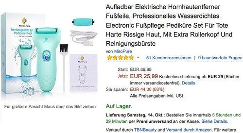 MiroPure Aufladbar Elektrische Hornhautentferner  - jetzt 35% billiger