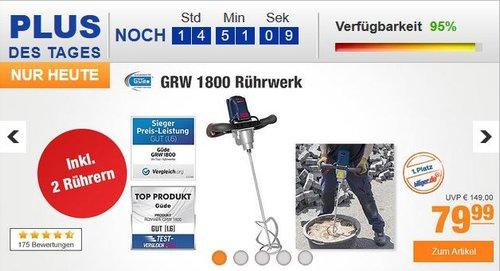 Güde Rührwerk GRW 1800 - jetzt 11% billiger