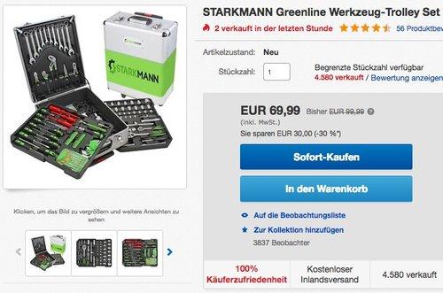 STARKMANN Greenline Werkzeug-Trolley Set 399 tlg. - jetzt 29% billiger