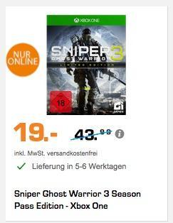Sniper Ghost Warrior 3 Season Pass Edition - Xbox One - jetzt 52% billiger