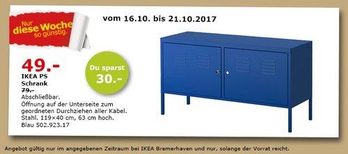 IKEA PS Schrank, 119x40cm, 63 cm hoch - jetzt 38% billiger