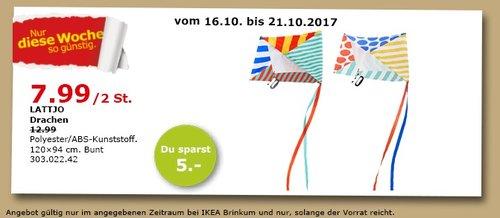 IKEA LATTJO Drachen, 120x94 cm - jetzt 38% billiger