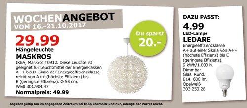IKEA MASKROS Hängeleuchte, 55 cm - jetzt 40% billiger