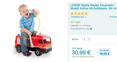 LENA - Starke Riesen Feuerwehr Modell Actros - jetzt 9% billiger