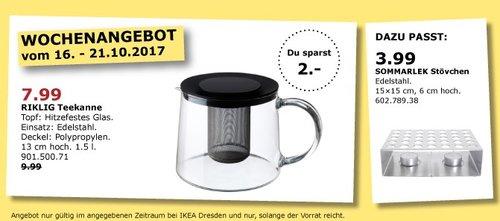 IKEA RIKLIG Teekanne, 1.5 Liter - jetzt 20% billiger