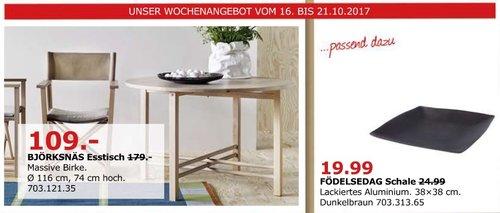 IKEA BJÖRKSNÄS Esstisch, 116 cm - jetzt 39% billiger