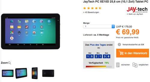 JayTech PC XE10D 25,6 cm (10,1 Zoll) Tablet PC - jetzt 18% billiger