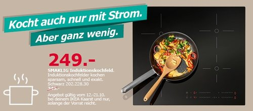 IKEA SMAKLING Induktionskochfeld - jetzt 29% billiger