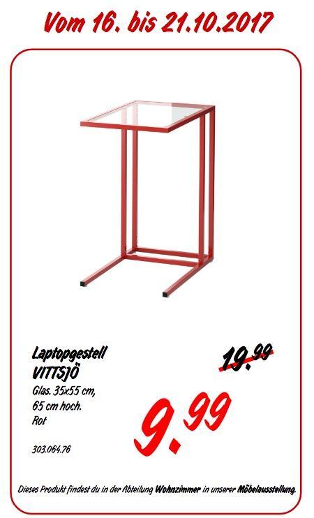 IKEA VITTSJÖ Laptopgestell, rot - jetzt 50% billiger