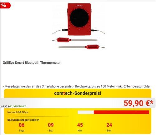 GrillEye Smart Bluetooth Thermometer - jetzt 16% billiger