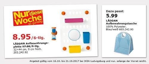 IKEA LADDAN Aufbewahrungsplatte 6-tlg. - jetzt 50% billiger