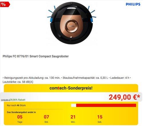 Philips FC 8776/01 Smart Compact Saugroboter - jetzt 26% billiger