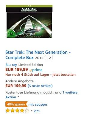 Star Trek: The Next Generation - Complete Box [Blu-ray] [Limited Edition]  - jetzt 40% billiger