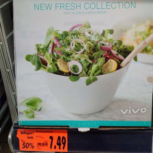 VIVO New Fresh Collection Servierschüssel Servierschale Porzellanschale - jetzt 25% billiger