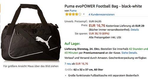Puma evoPOWER Football Bag - jetzt 35% billiger