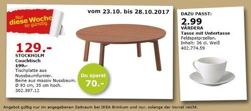 IKEA STOCKHOLM Couchtisch - jetzt 35% billiger