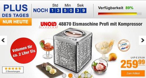 Unold 48870 Eismaschine Profi mit Kompressor, 2 L Eiscreme - jetzt 14% billiger