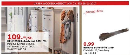 IKEA HEMNES Schuhschrank - jetzt 16% billiger