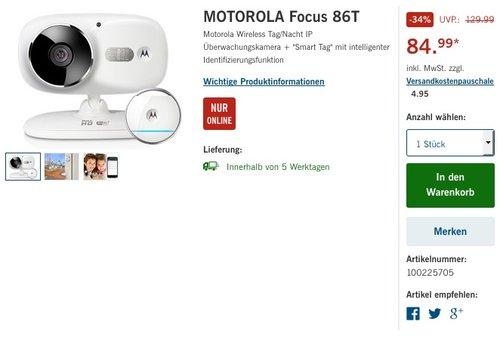 Motorola Focus 86T W-LAN Kamera und Smart Tag - jetzt 22% billiger