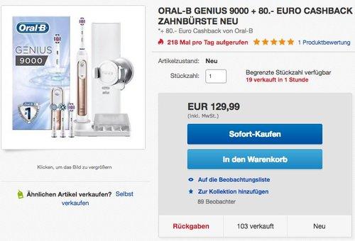 Oral-B Genius 9000 ROSEGOLD Elektrische Zahnbürste - jetzt 24% billiger