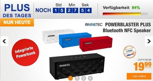 NINETEC POWERBLASTER PLUS Bluetooth NFC Speaker mit integrierter PowerBank - jetzt 31% billiger