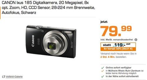 CANON Ixus 185 Digitalkamera  - jetzt 18% billiger