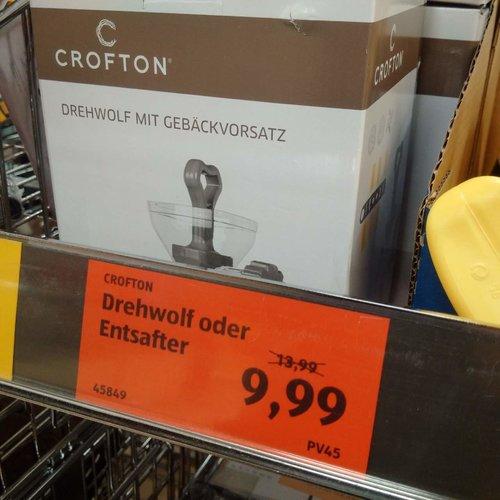 CROFTON Drehwolf oder Entsafter - jetzt 29% billiger