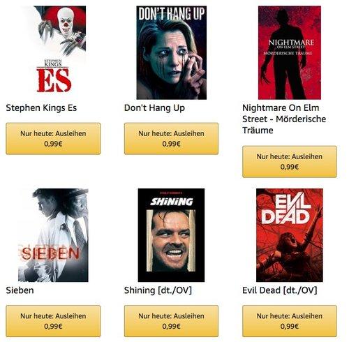 Amazon Freitagskino Halloween Aktion: 120 Leih-Filme für je nur 99 Cent - jetzt 67% billiger