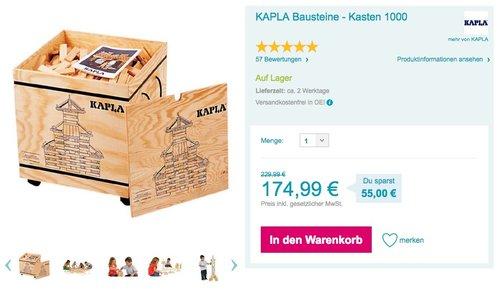 KAPLA Bausteine 1000er BOX - jetzt 7% billiger