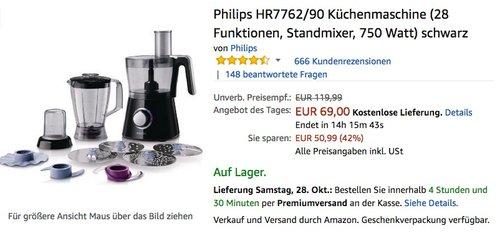 Philips HR7762/90 Küchenmaschine - jetzt 16% billiger