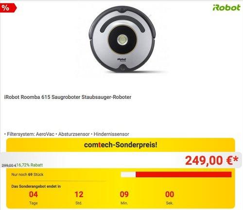 iRobot Roomba 615 Saugroboter Staubsauger-Roboter - jetzt 11% billiger