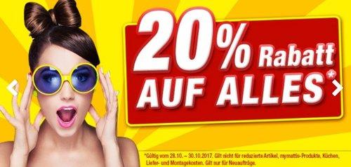 POCO Einrichtungsmarkt - 20% Rabatt auf fast alles - jetzt 20% billiger