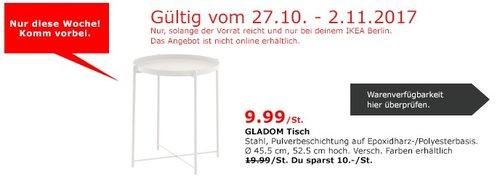 IKEA GLADOM Tisch - jetzt 50% billiger