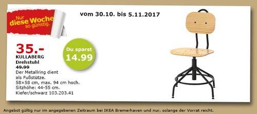 IKEA KULLABERG Drehstuhl - jetzt 30% billiger