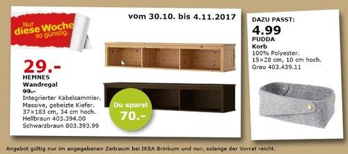 IKEA HEMNES Wandregal - jetzt 71% billiger