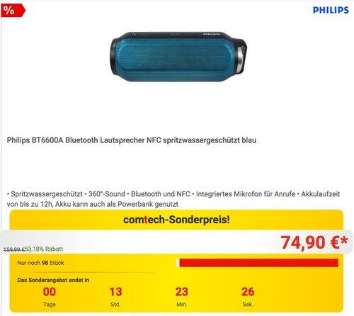 Philips BT6600A Bluetooth Lautsprecher  - jetzt 24% billiger