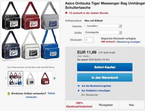 ASICS Onitsuka Tiger Schultertasche - jetzt 40% billiger