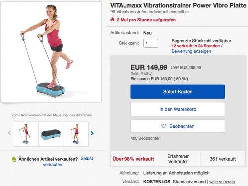 VITALmaxx Vibrationstrainer 4-tlg. 200W - jetzt 16% billiger