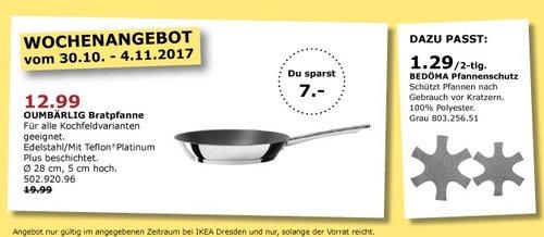 IKEA OUMBÄRLIG Bratpfanne - jetzt 35% billiger