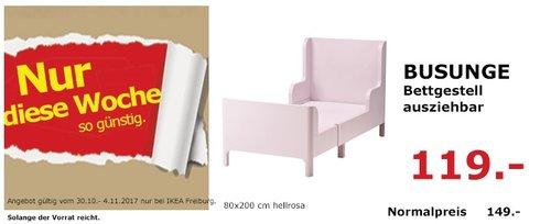IKEA BUSUNGE Bettgestell - jetzt 20% billiger