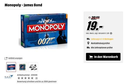 Monopoly Sonder Edition: 007 James Bond - jetzt 49% billiger