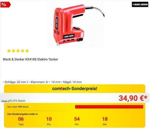 Black & Decker KX418E Elektro-Tacker - jetzt 12% billiger