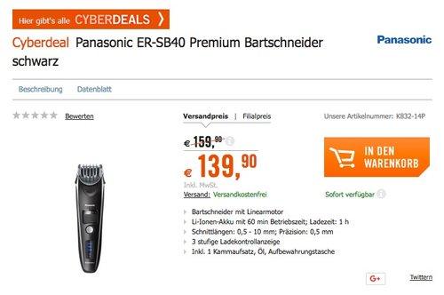 Panasonic ER-SB40 Premium Bartschneider - jetzt 12% billiger