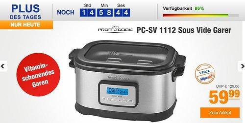 Profi Cook PC-SV 1112 Sous Vide Garer  - jetzt 14% billiger