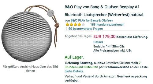 B&O Play von Bang & Olufsen Beoplay A1 - jetzt 10% billiger