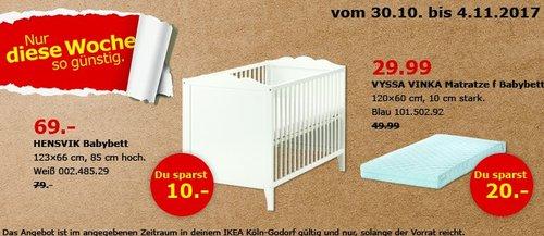 IKEA HENSVIK Babybett - jetzt 13% billiger